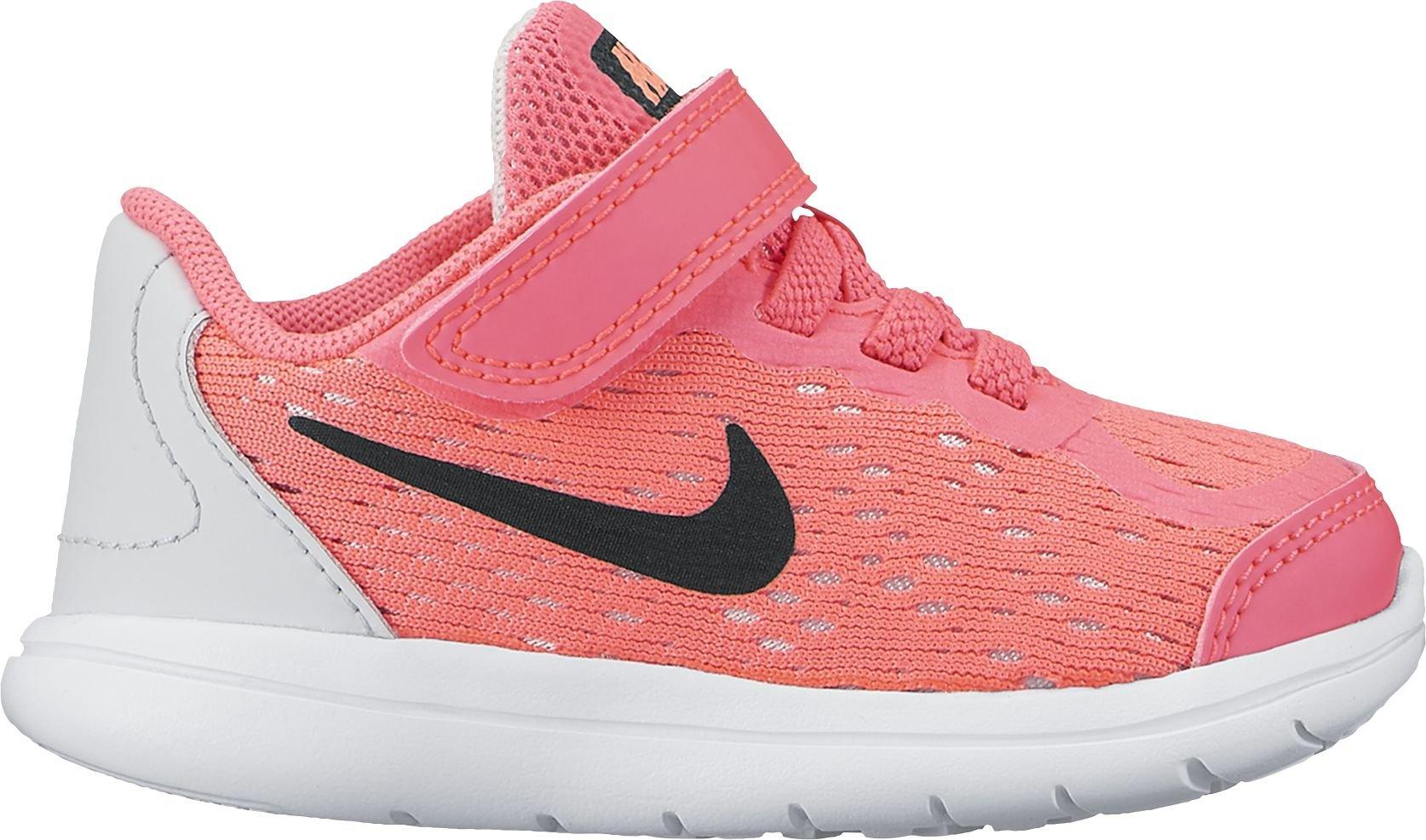 a5f68fa9b67c3 Nike Girl s Flex RN 2017 (TDV) Toddler Shoe Racer Pink Black Pure
