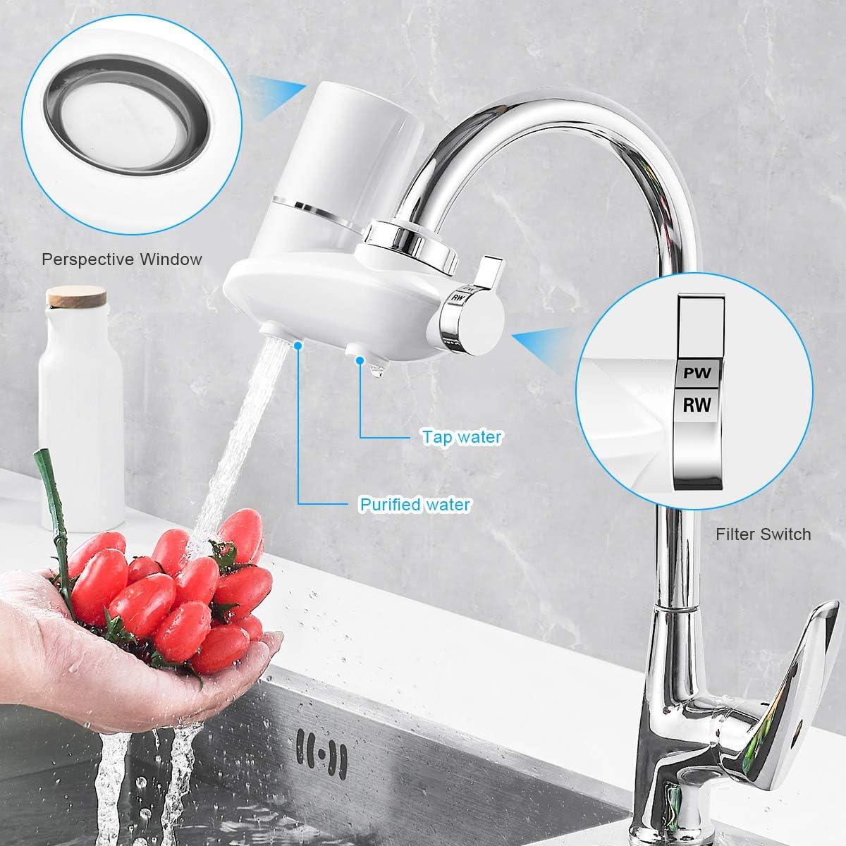 WinArrow Filtro Agua para Grifo, Sistema de Filtro de Cocina Filtro de Grifo con Cartucho de Filtro de Cerámica Lavable Elimina el Cloro Pesticidas y Metal Pesado (WA790): Amazon.es: Hogar