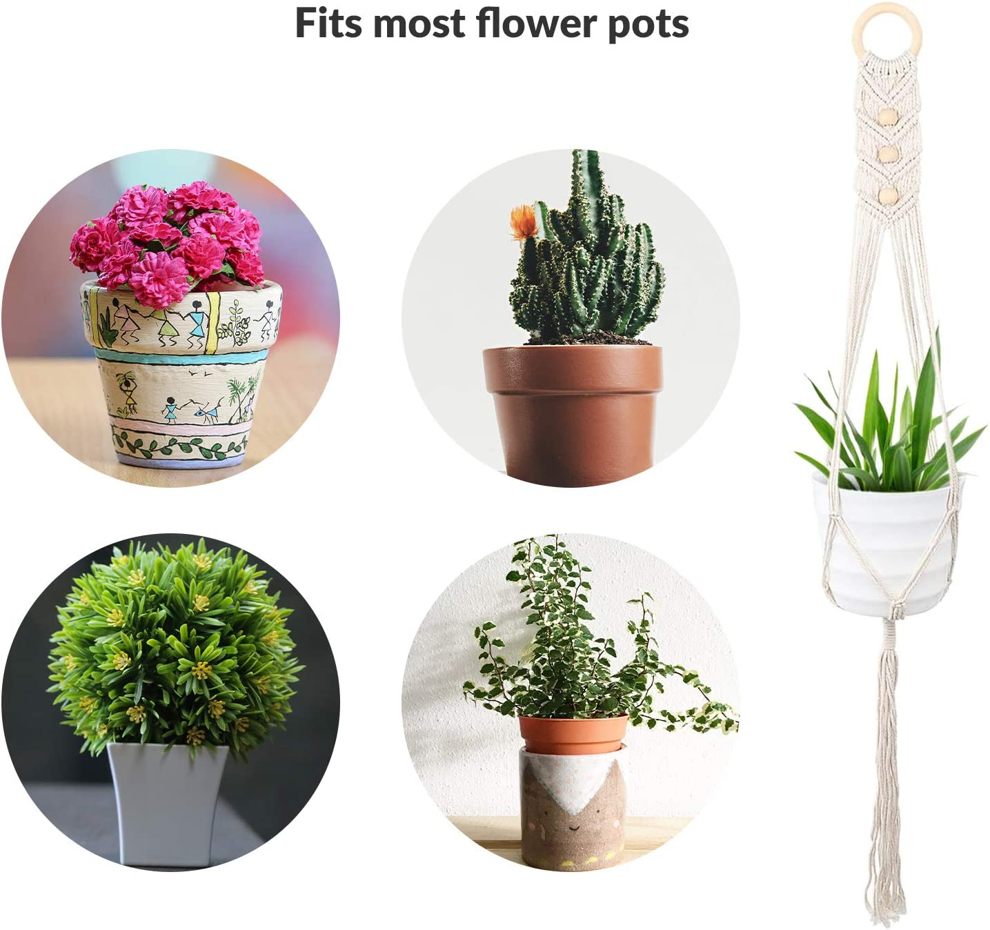 Resin Flower Pot Home Balcony Corrosion-resistant Non-toxic Wall-mounted Pots