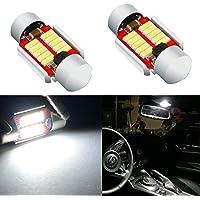 Alla Lighting DE3021 DE3175 LED Bulbs Super Bright 4014 10-SMD 28mm 29mm 12V LED DE3022 6428 Bulbs for Festoon Interior…