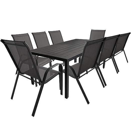 Ensemble De Jardin En Aluminium, Polywood, 9 Eléments, Table ...