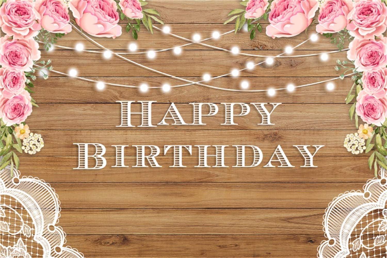 SZZWY 10x7ft Happy Birthday Vinyl Photography Background Round Banner Lace Edge White Polka Dots Red Black Striped Backdrops Child Kids Baby Birthday Party Banner Cake Smash Studio Photo Props