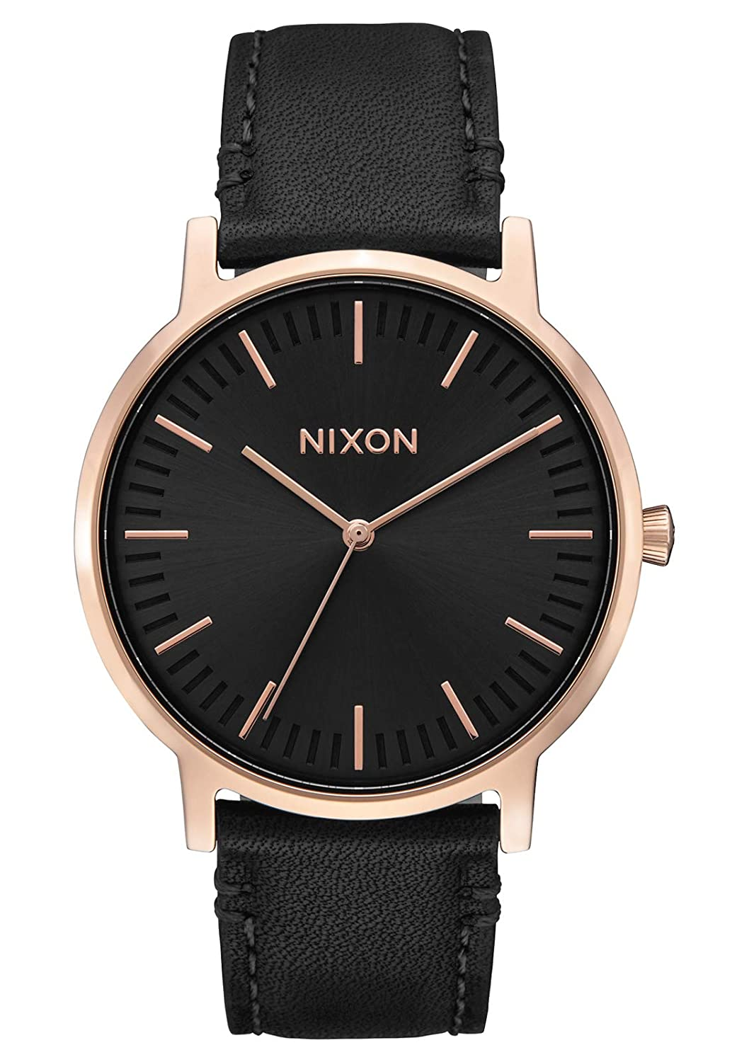 Nixon Porter Leather A1058. 100m Water Resistant Men s Watch 20-18mm Leather Band and 40mm Watch Face