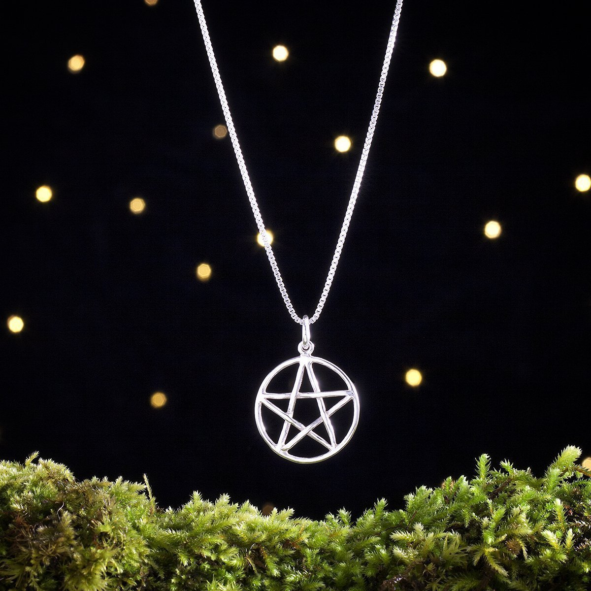 Sterling Silver Pentagram, Pentacle - Double Sided - (Pendant, Necklace, or Earrings)
