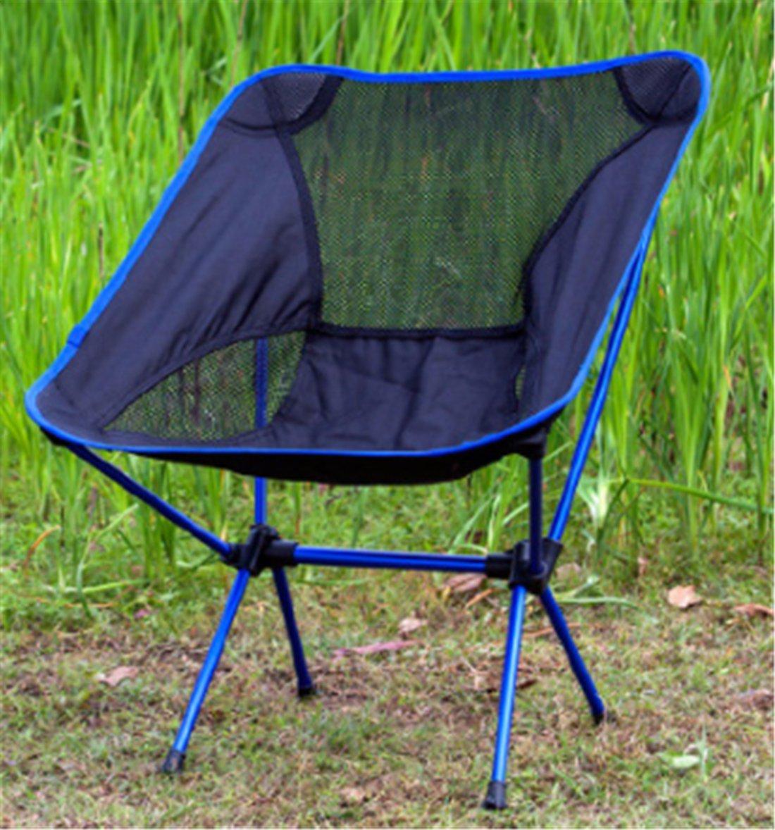 Yeying123 Outdoor-Klappstuhl Tragbare Reise Freizeit Stuhl Ultraleichte Aluminiumlegierung Angeln Stuhl Strandkorb,Blau