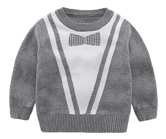 5950e487eaf7 La Vogue Boy Warm Cable Knit Pullover Baby Sweater Cotton Casual Sweatshirt  Grey 100
