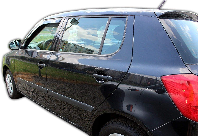 J J Automotive Windabweiser Regenabweiser Für Skoda Fabia Ii 5 Türer 2007 2014 2tlg Heko Dunkel Auto