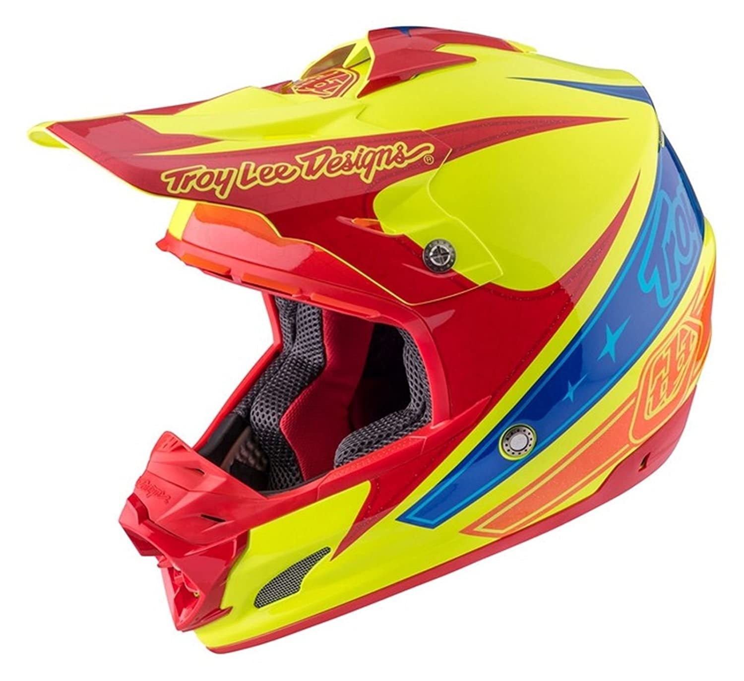 Troy Lee Designs amarillo 2017 SE3 Corse 2 MX Casco: Troy Lee Designs: Amazon.es: Coche y moto