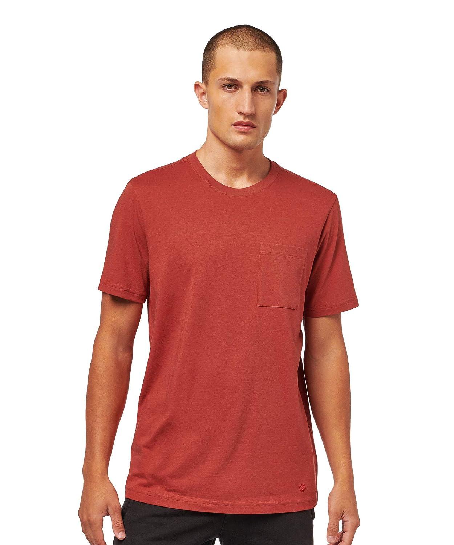 Rouge Foncé S Stance Shelter T-Shirt de Poche pour Homme