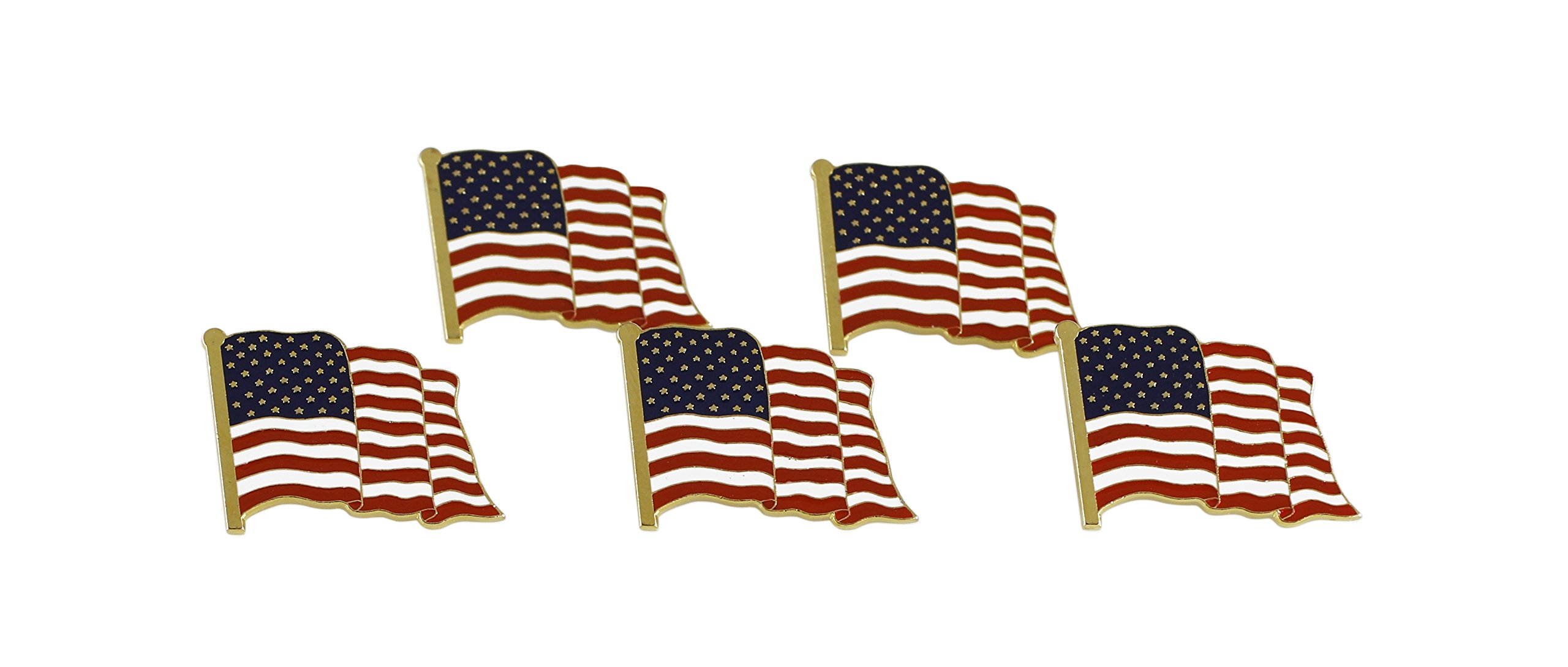 American Flag Lapel Pin Proudly Made in USA (5 Pack) by Forge