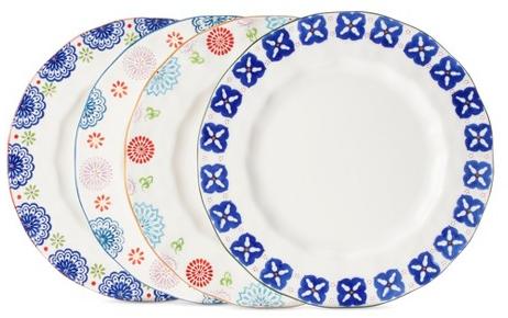 Boho Boutique™ Floral Ceramic Dinner Plate Set of 4 : Target