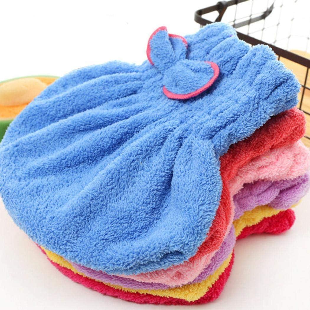 Sioneit Praktische Wasserabsorption trockenes Haar Cap Bow Dekoration Home Badezimmer Zubeh/ör Einbauduschk/öpfe