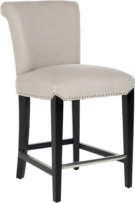 Amazon Com Safavieh Mercer Collection Seth Taupe Linen 25 9 Inch Counter Stool Furniture Decor