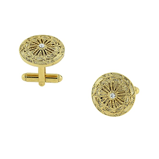 Victorian Men's Cane, Pocket Watch, Spats, Suspenders  Round Cufflinks (Gold-Tone) $33.98 AT vintagedancer.com