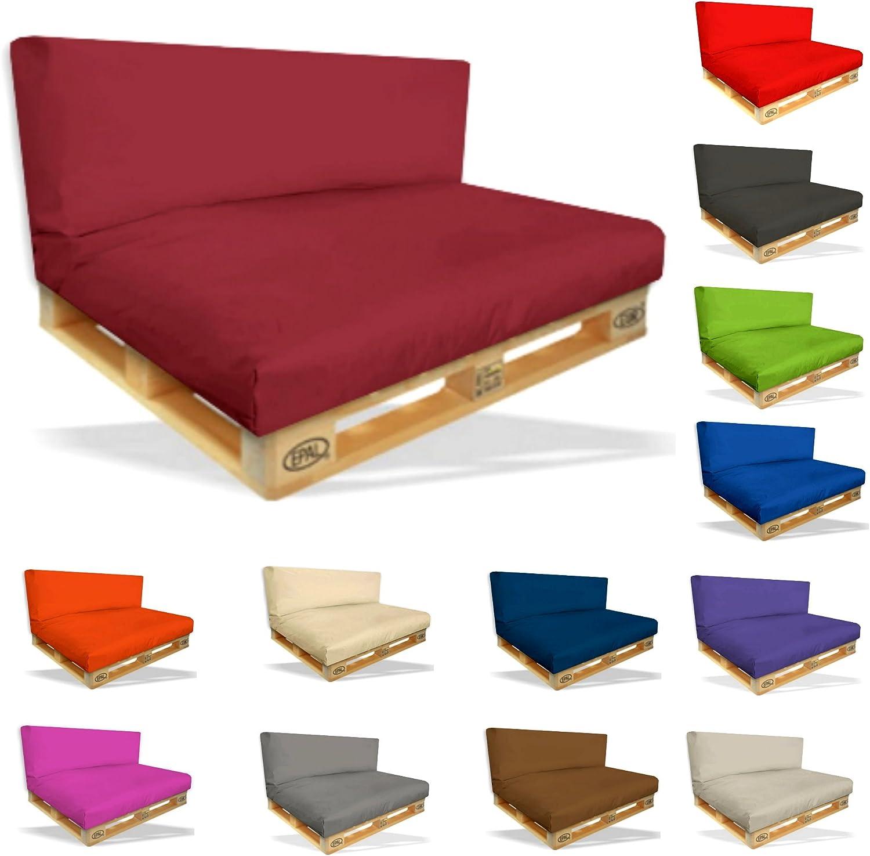 Mayaadi Home Palettenkissen Palettenpolster Palettenauflage R/ückenkissen Indoor Outdoor MH-GD04 Grau 120x40x10-20cm