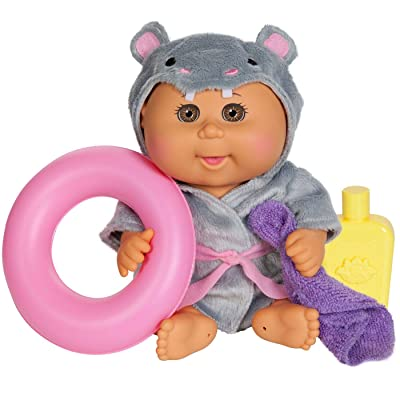 Cabbage Patch Kids Bubble'n Bath Bathtime Baby Doll - Hippo Baby Brown Eyes/Medium Skin: Toys & Games