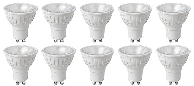 Megaman 141730 - Lote de 10 bombillas LED, GU10 PAR16, 4 W, 35