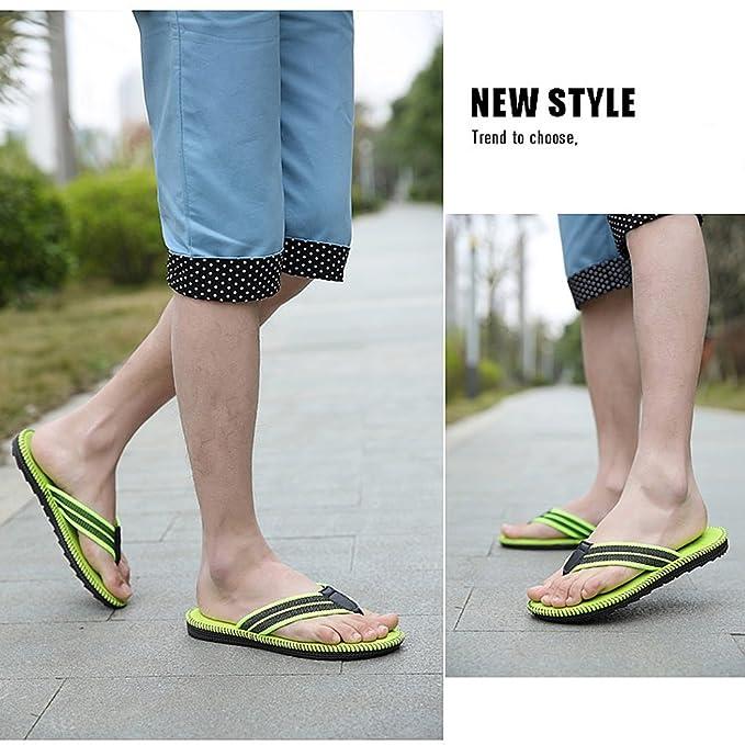 Amazon.com: Men's beach slippers summer trend non-slip holiday sandals flip- flops ( Color : Brown , Size : US:8\UK:7\EUR:41 ): Home & Kitchen
