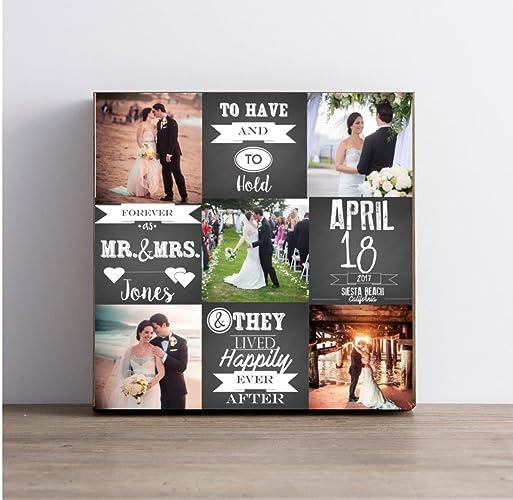 amazon com wedding or anniversary photo collage on canvas