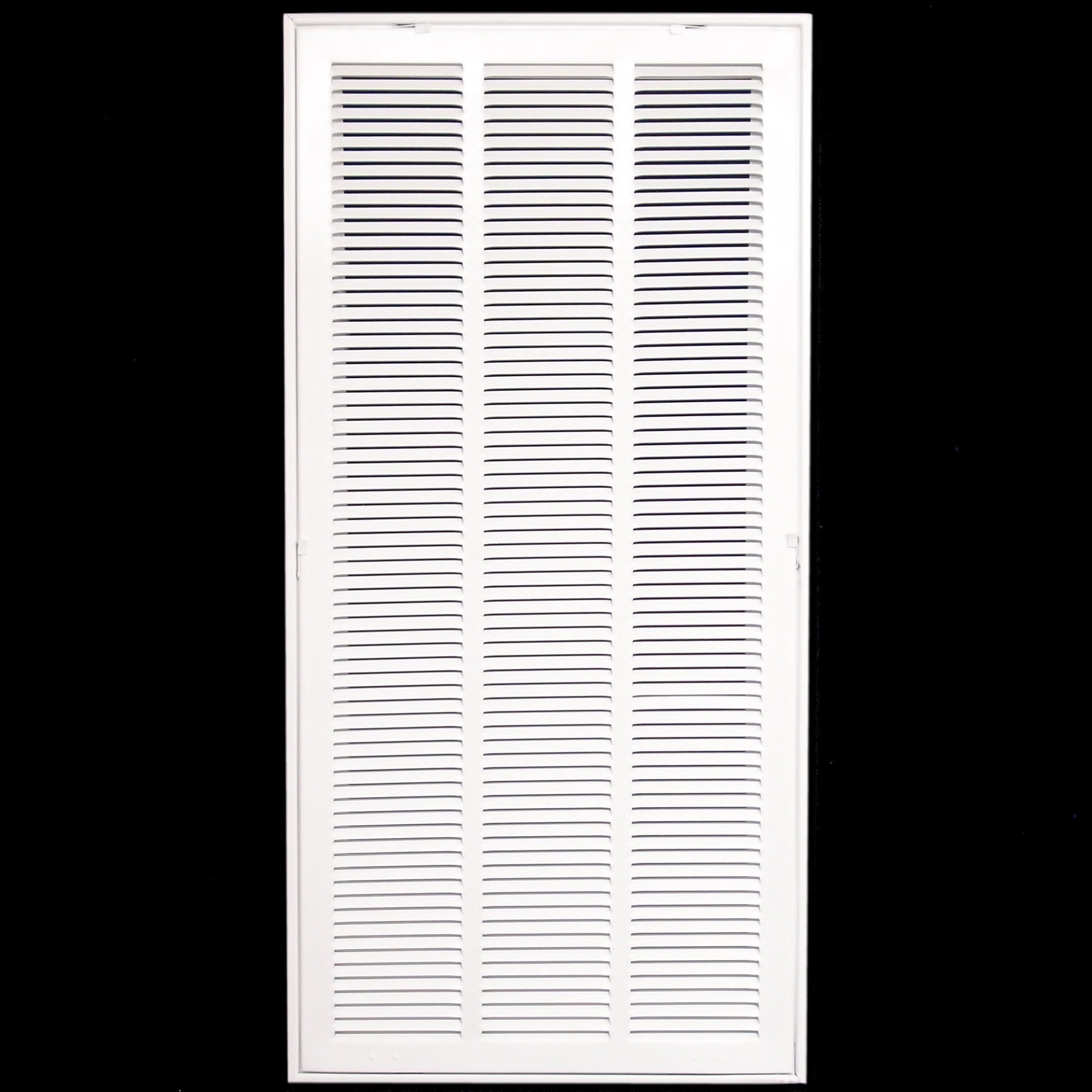 18'' X 36 Steel Return Air Filter Grille for 1'' Filter - Fixed Hinged - ceiling Recommended - HVAC DUCT COVER - Flat Stamped Face - White [Outer Dimensions: 20.5''w X 38.5''h]