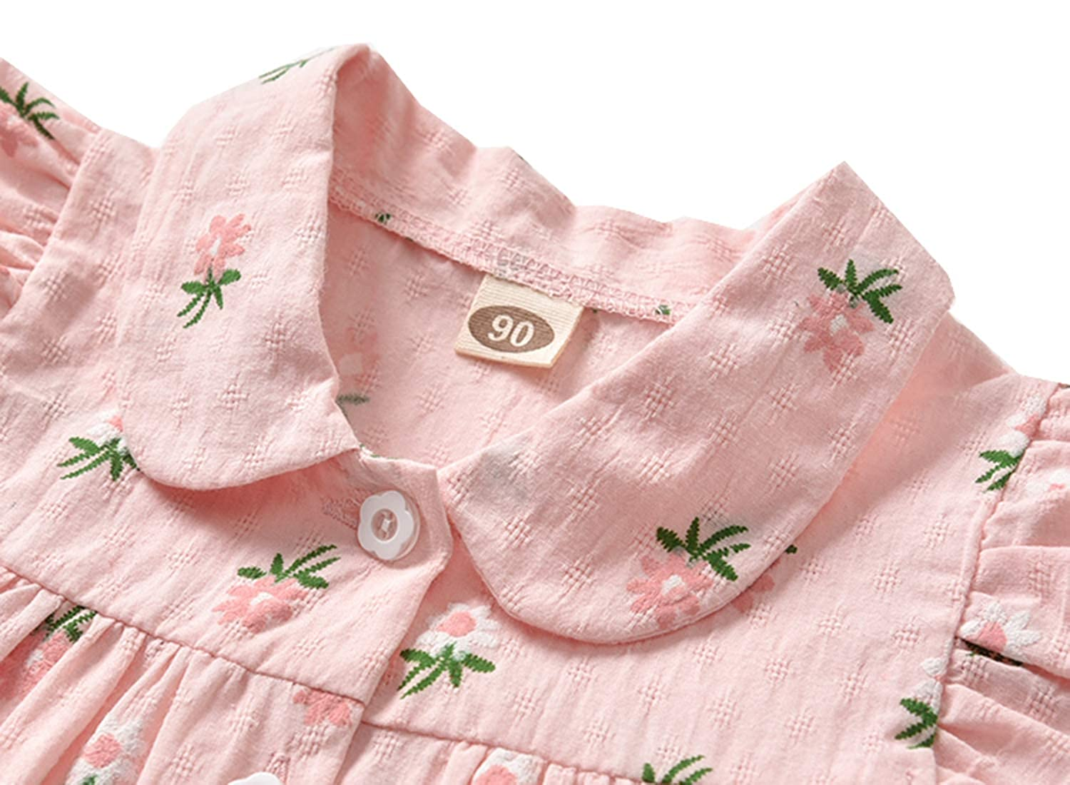 Styles I Love Baby Toddler Girl Flutter Sleeve Button Up Cotton Blouse Spring Summer Outfit