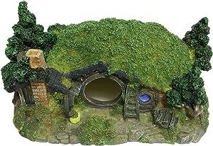 SLOCME Aquarium Hobbit Castle Decorations - Fish Tank Castle Ornament,Betta Fish Hide Decorations