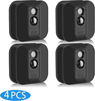 1 PCS Black Silicone Skin Case Cover for Blink XT Home Security Camera