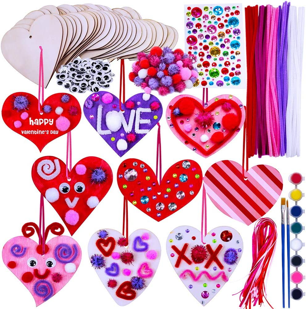 LOVE HEART WOODEN TABLE DECORATIONS RUSTIC ARTS AND CRAFTS SCRAP BOOKING