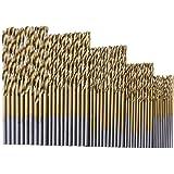 Dolland 50Pcs Titanium Coated HSS High Speed Steel Drill Bit Set Tool 1/1.5/2/2.5/3mm