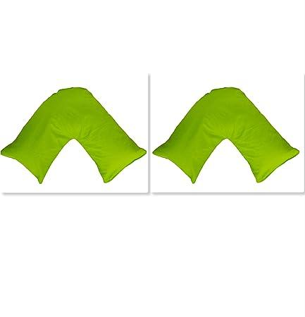 Grass Green Pillow Case Cover V Shape