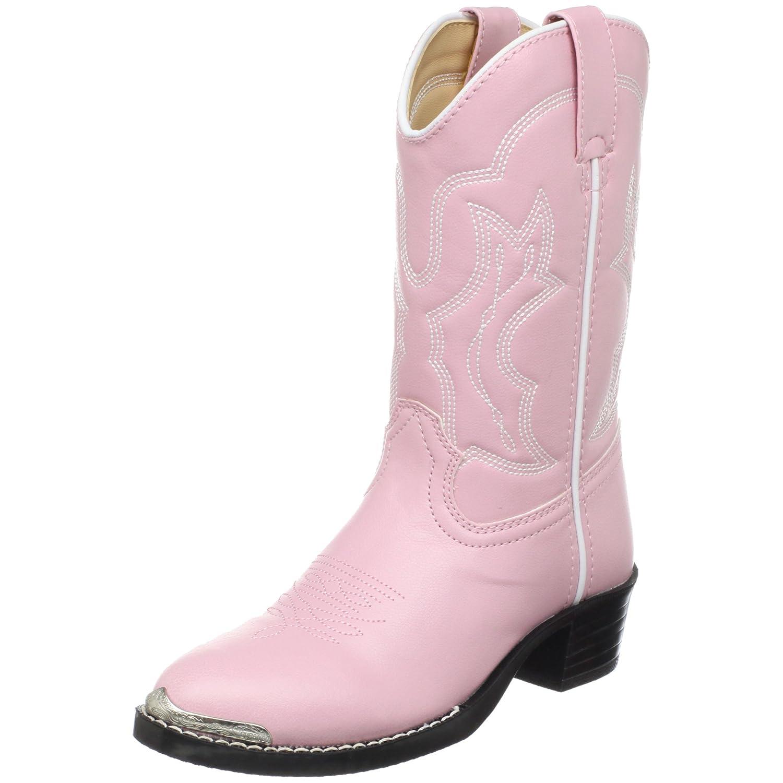 Amazon.com | Durango Lil' Dusty Pink N Chrome Western Boot ...