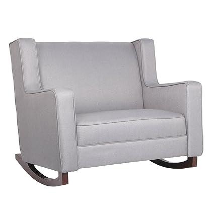 Cool Esright Grey Fabric Rocker Morden Rocking Chair Comfortable Relax Glider Camellatalisay Diy Chair Ideas Camellatalisaycom