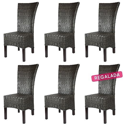 Rotin Design REBAJAS : -44% Lote 6 sillas de ratan para ...