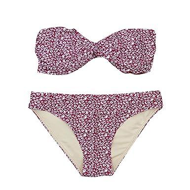 3f516f6dad6 Quistal Women Swimsuit Women s Bikinis Set Sexy Floral Print Swimwear Twist  Front Push Up Bra Bikini