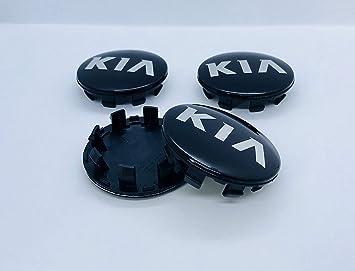 DNZ® 4 KIA 60 mm de aleación para la rueda de coche negro logo emblema ...