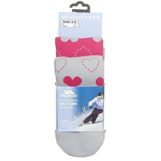Trespass - Calcetines para Esquiar Modelo Luv Mujer Señora - Invierno/Nieve/Frio (