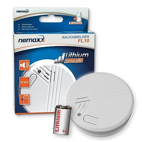 Nemaxx FL10 - Pila de litio para detector de humo (certificado EN 14604)