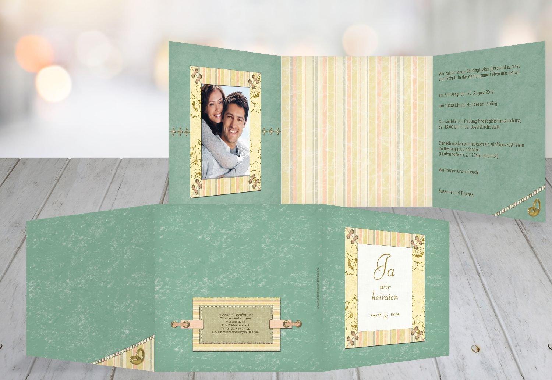 Kartenparadies Hochzeitskarte Hochzeit Einladung Bund für's Leben, hochwertige Einladung zur Heirat inklusive Umschläge   10 Karten - (Format  145x145 mm) Farbe  PastellHellTürkis B01N24JL9Q | 2019  | Export  | Verschiedene Arten Und Die