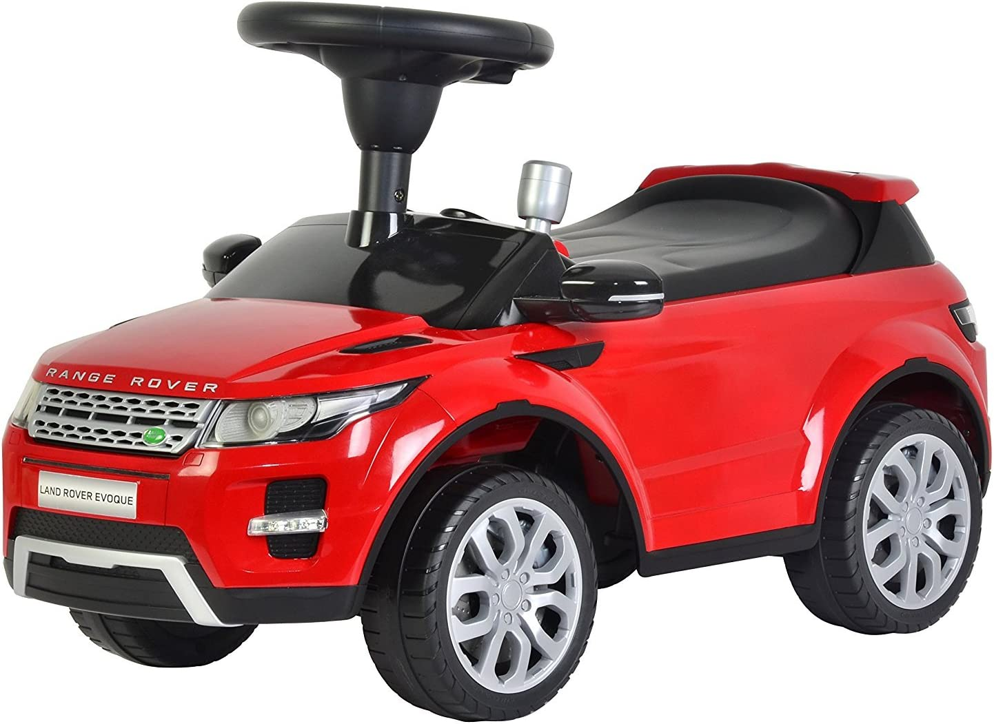Evezo Range Rover Evoque, Ride On Toy Kids Toddler Foot to Floor Push Car w/ Horn Officially Licensed (Red)