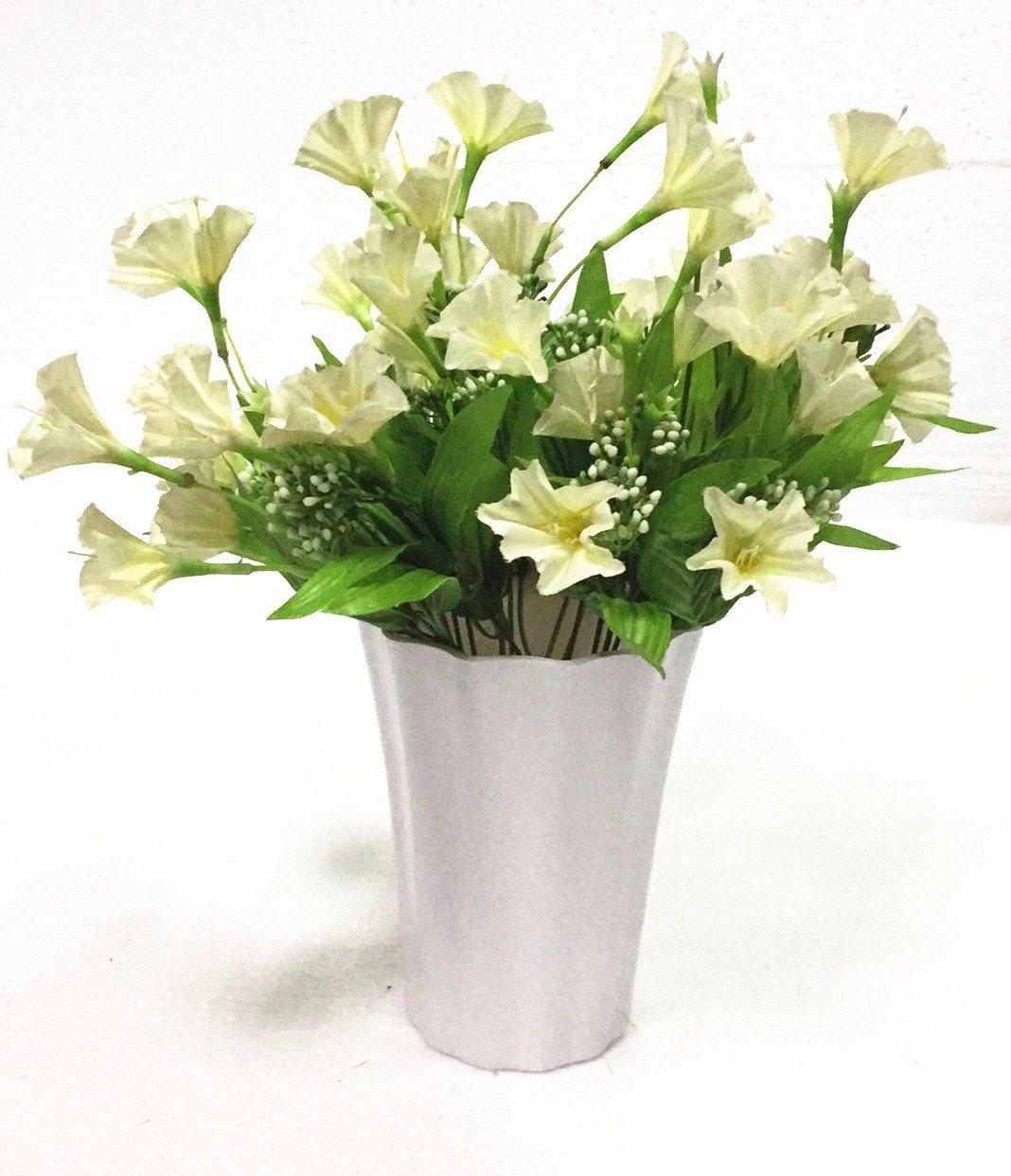 En el dormitorio, salón con flores de plástico emulación arnés paisley decoraciones en maceta pequeña casa mesa de comedor, mesa de café swing-,Q: ...