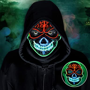 Halloween 3 Masks In 2020 Amazon.com: LED Halloween Mask, 2020 Upgraded Scary Halloween