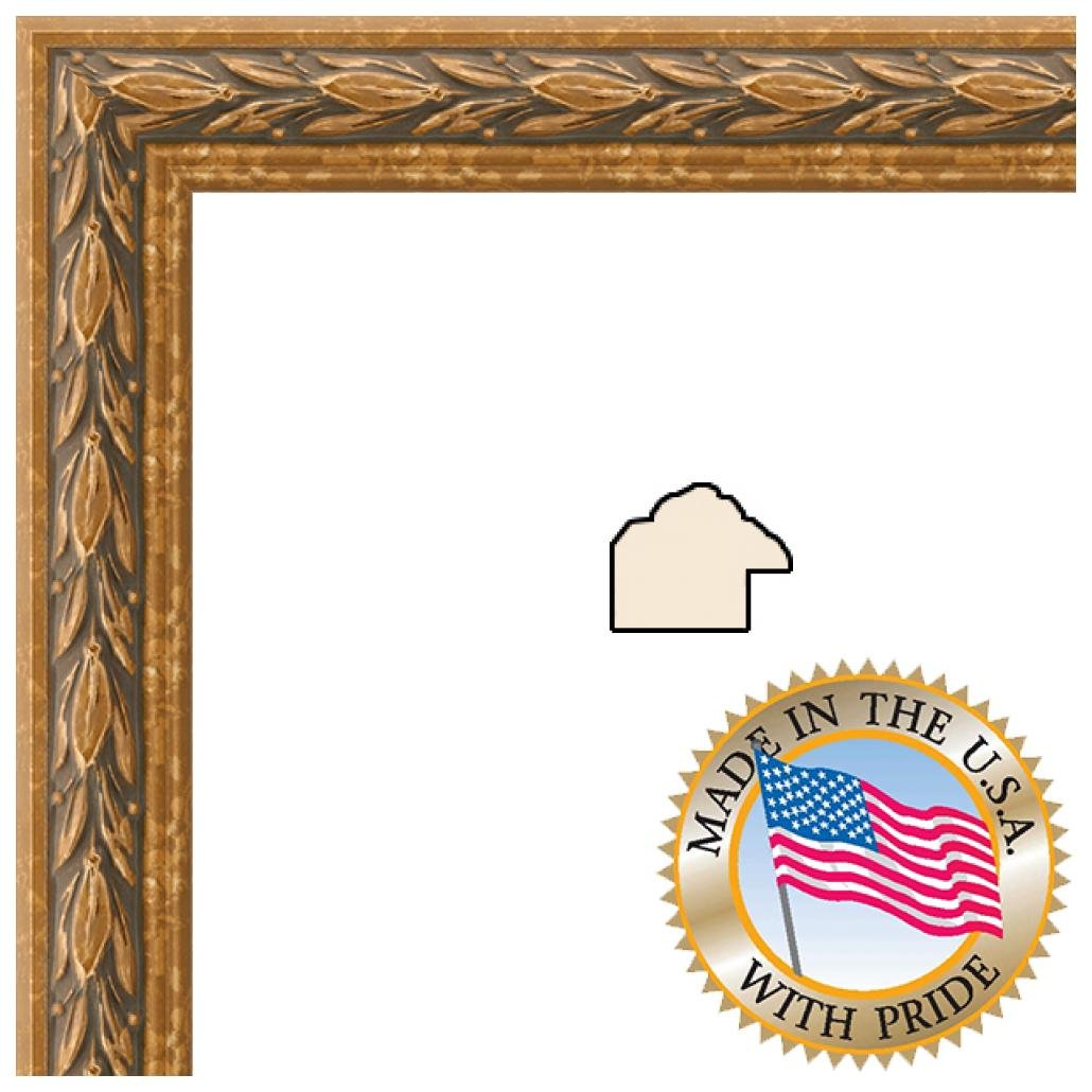 8x13 8 X 13 Picture Frame Antique Gold 1 Wide Amazonca