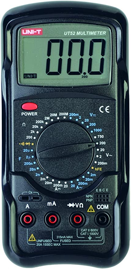 /Mult/ímetro digital medidor de AC//DC Uni-Ball T Universal/ Medici/ón de spannug y corriente Obstrucci/ón 1/pieza ut39/C