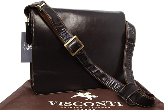99 opinioni per Visconti- Borsa Messenger in pelle A4 Notebook/ipad- 18548- Unisex adulto