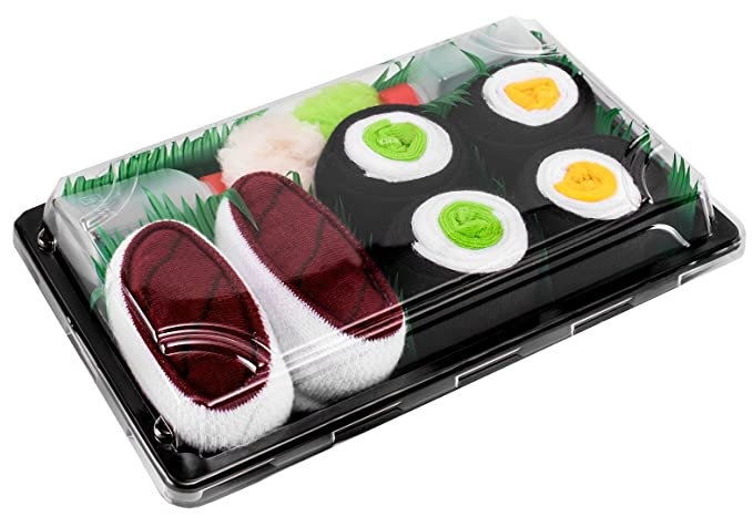Sushi Socks Box - 3 pares de CALCETINES: Maki de Pepino, Maki de Oshinko