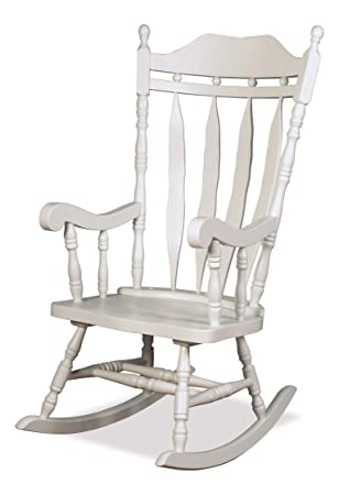 Strange The One Jay Traditional Solid Wood Carved Rocking Chair Finish White Living Room Conservatory Nursery Furniture Short Links Chair Design For Home Short Linksinfo