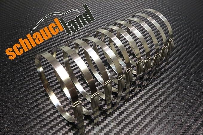 10 Kabelbinder***Heat Wrap 5m Keramik Hitzeschutzband 50mm weiss 1200°C