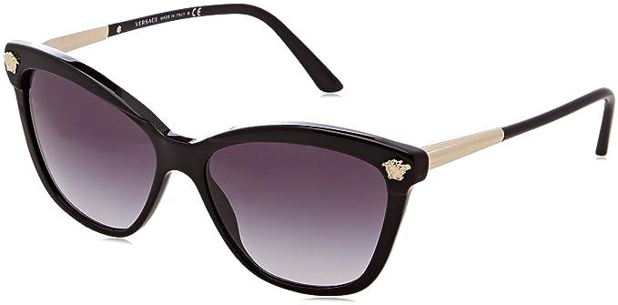 Versace Womens Cat Eye Mirrored Sunglasses