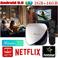 RKTech X88 Pro 2GB 16GB Android 9.0 TV Box Rockchip Rk3318 4 Core Dual WiFi 2.4G&5G WiFi 4K HDR Set Top Box USB 3.0 Support 3D Movie, Supports JIO TV and HOTSTAR APPS