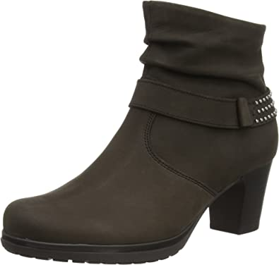 Uk 7 Wide Fit grey heeled Boots very stylish!!!!!